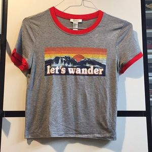 Forever 21 Let's Wander Graphic Tee